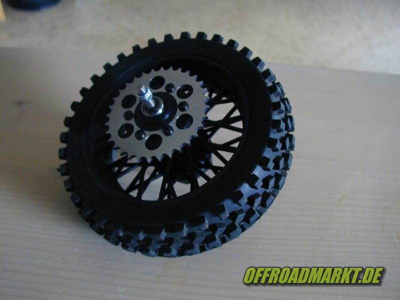 RC Motorrad ARX 540 BSD Reely Dirtbike Rear Spoke Wheel 3