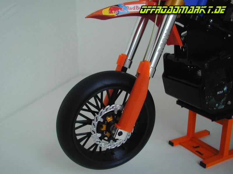 """REELY Dirtbike, X-Rider, ARX 540 Bremsscheibe """"ODIN"""" Supermoto Vorderrad RC Motorrad"""