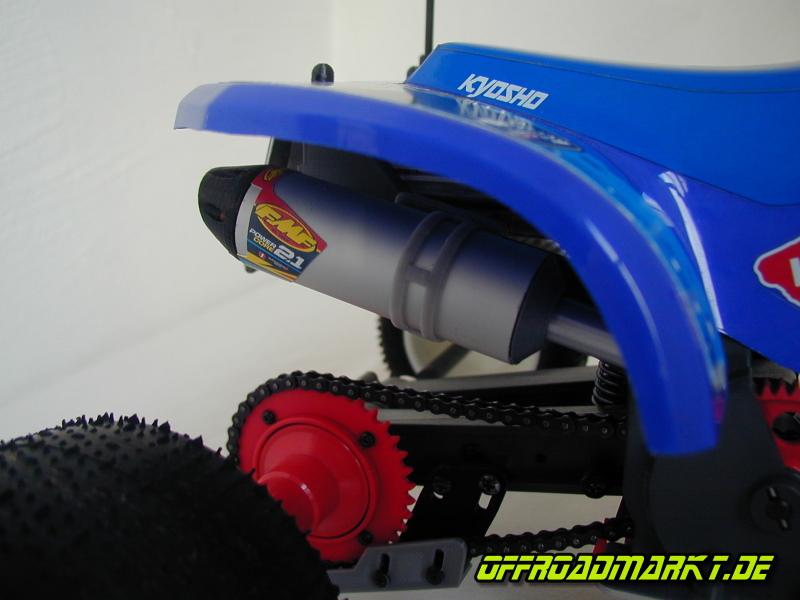 Schalldämpfer / Exhaust / Muffler für 1-4 RC KYOSHO ATV Quad Rider 3
