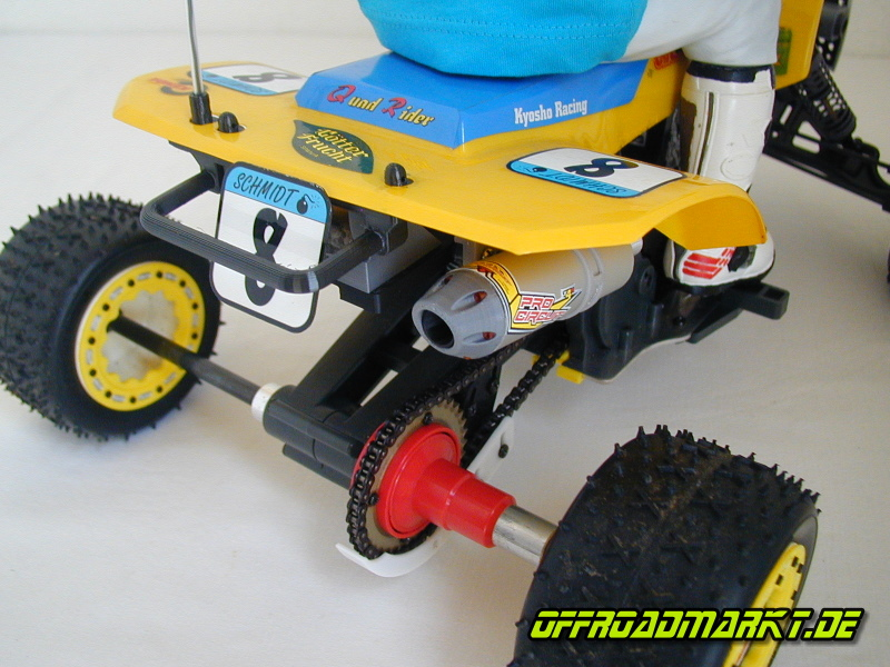 Schalldämpfer / Exhaust / Muffler für 1-4 RC KYOSHO ATV Quad Rider 2