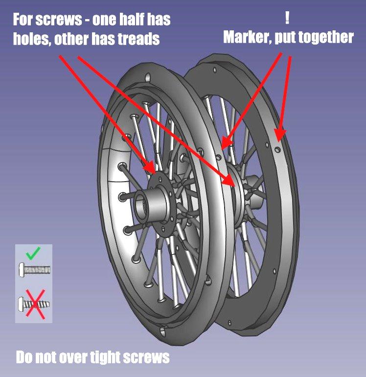 Hilfe Zeichnung zu RC Bike 1/4 Motard Spoke Wheel